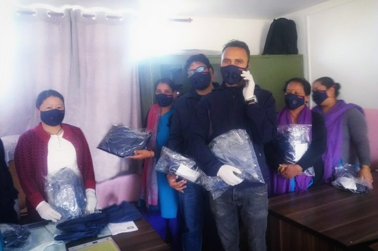 Protective Equipment for medical staff in Nepal