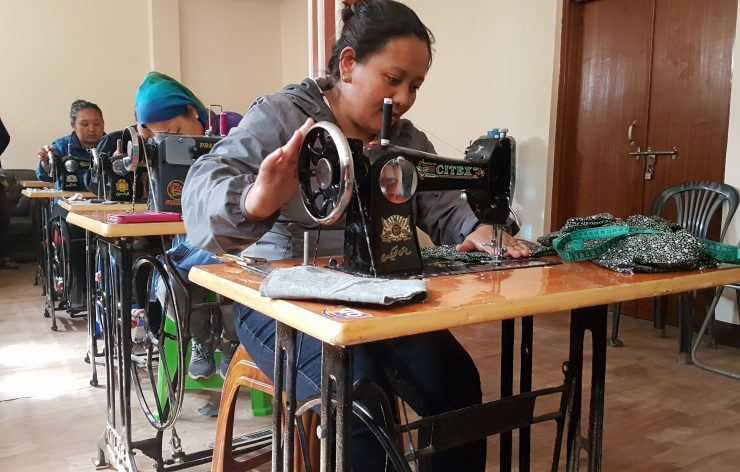 Sewing training for women in Nepal generating job perspectives