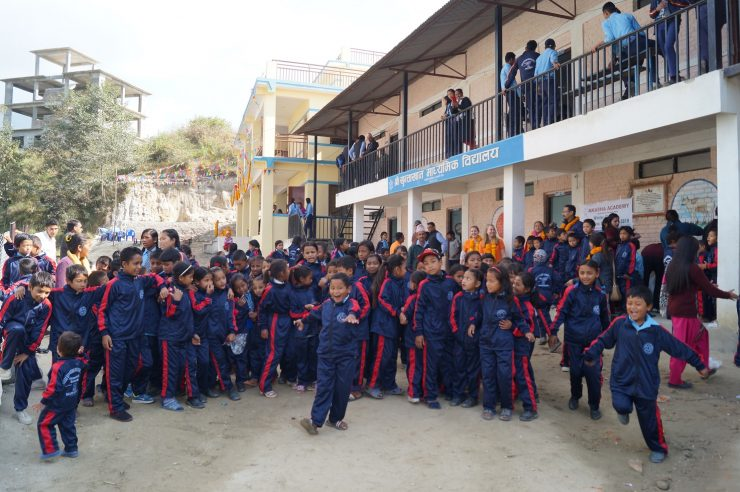 Winter school uniforms for pupils in Suntakhan